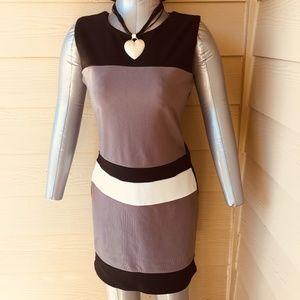 Dresses & Skirts - Color block midi work dress